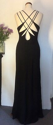 Evening Dress True Vintage Jora Collection American Black Floral Beaded