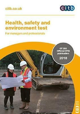 2018 Cscs Card Test Book For Managers And Professionals Citb Gt 200/18 New