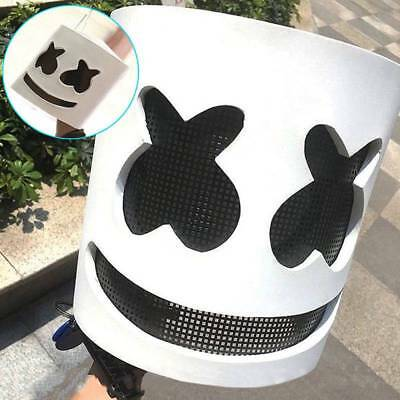 MarshMello DJ Mask Full Head Latex Helmet Halloween Cosplay Mask Bar Music Props