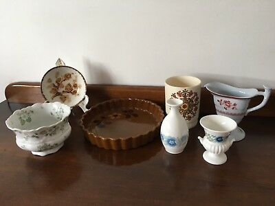 Collection of quality antique Spode, Wedgewood and Palissy Etc.. vases & plates