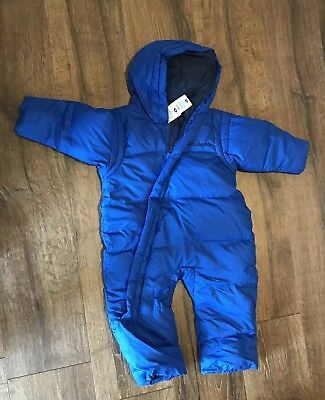 Columbia 18 Months Snow Suit Bunting Blue With Hood Zipper