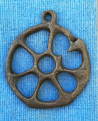 "Ancient Viking Bronze pendant AMULET ""SUN"" GREAT SAVE"