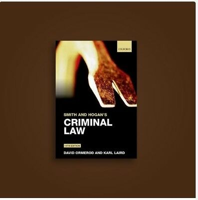 Criminal Law- Smith and Hogan-14th edition