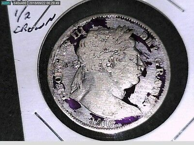 1816 Silver Half Crown From Great Britain