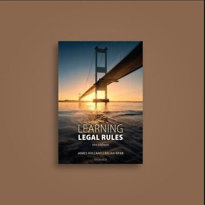 Learning of legal rules 09th edition-By James Holland/Julian Webb