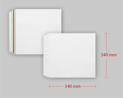 Square High Quality All Board White Calendar Card Document Envelopes