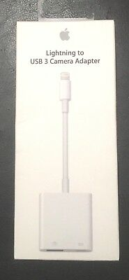 Apple Lightning to USB 3 Camera Adapter MK0W2AM/A for iPads iPhone-Brand New