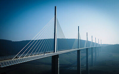 Millau Viaduct (France) - Office Photo, Photograph, Picture - 1p Auction AAA-04