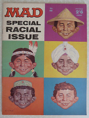 MAD Magazine - UK Issue No: 68 Sept 1967 - Special Racial Issue UK EDITION - 2/6