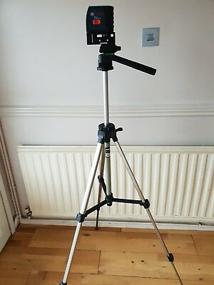 Bosch GLL-2 compact self levelling cross line laser and telescopic tripod