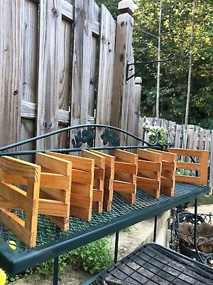 """breyer type wooden corral set, excellent condition each panel 4"""" x 5"""", 17 panels"""