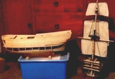 Wooden Model Endeavour Ship. Museum Quality Replica in 1:48 Scale