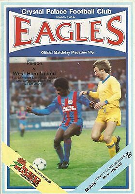 Crystal Palace v West Ham United, 28 January 1984, FA Cup Fourth Round
