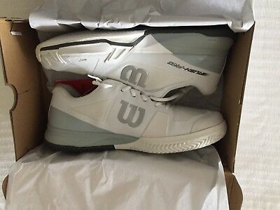 Brand New Mens Wilson Rush Pro 2.5 Tennis Shoes Size 12- White/Pearl