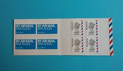 GB BOOKLET MJA1 4 x WORLDWIDE POSTCARD + LABELS 2004 MINT CONDITION FREE POSTAGE