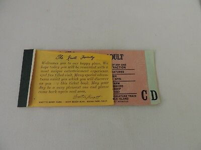Vintage 1970s KNOTTS BERRY FARM Theme Park Attraction SUPER BONANZA TICKET BOOK