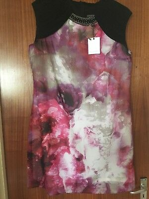 BNWT Little Mistress ASOS Curve Blurred Floral Embellished Dress Size 22 Rrp £75
