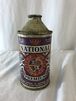 National Premium IRTP Cone Top Beer Can - Baltimore MD