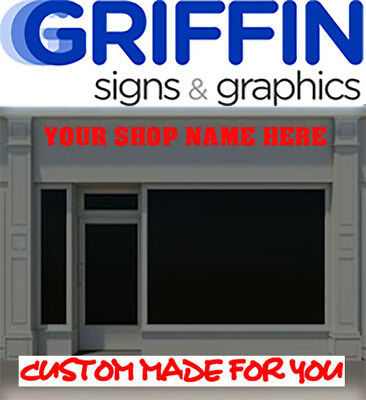 2 metre Shop Front Sign Writing Large Custom Signage Vinyl Stickers Signs Decals