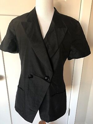 Vintage CHRISTIAN DIOR Size 10 Black Blazer/Skirt 2 Piece Double Breasted