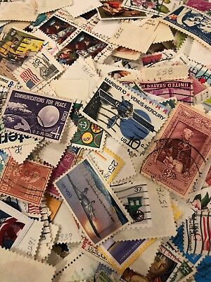 ** US Stamp Collecting Mixed  75  US Postage Stamps 20 FREE INTERNATIONAL STAMPS