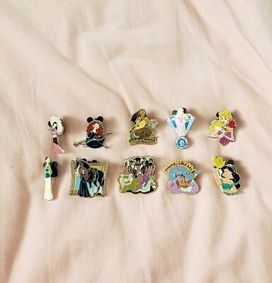 Disney Pin Lot 10 Pins Some Rare/Hard to Find