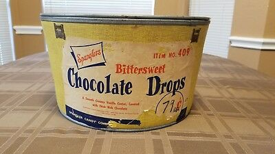 Spanglers Bittersweet Chocolate Drops Tub With Lid
