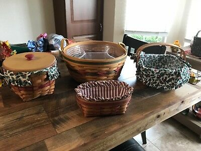 longaberger basket lot of 4