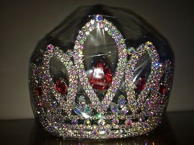 Beautiful Ruby Red Beauty Pageant Queen with AB Stones New In Packaging