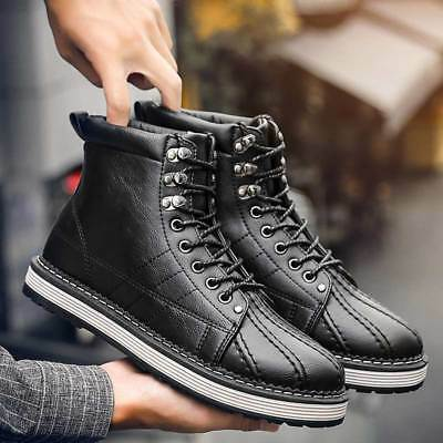 New Mens Martin Knight Boots Leather High-Top Safety Work Shoes Outdoor Stylish