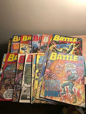 LOT OF 16 BATTLE  with STORM FORCE COMICS , 1987/ 88