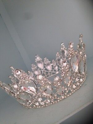Silver Full Wedding Crown . Pageant Crown . Bride . New For 2018