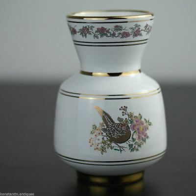 Vintage hand made 24ct Gold plated pottery vase jug Greek Royal white colour