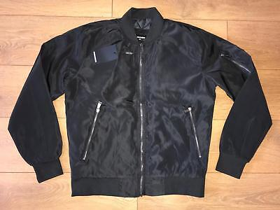 3XL size Dsquared2 Bomber Nylon Jacket 140 BLACK EUR 2018 Xf1Yww