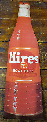 Hires Root Beer Soda Pop Bottle Shaped General Store Advertising Paper Sign
