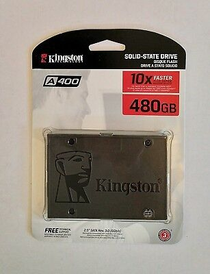 GENUINE 480GB SSD Kingston SSDNow A400 solid state SATA 6Gb/s SA400S37/480 (NEW)