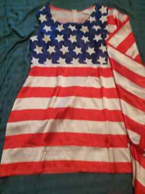 Womans American Flag Costume, size L