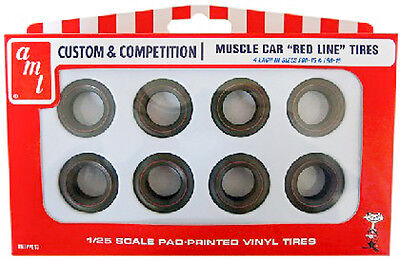 AMT Muscle Car Red Line Tire Pack PP013 1/25