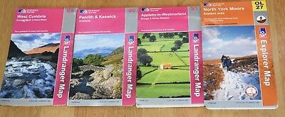 GB & Northern Ireland Ordnance Survey Maps - Various, see description for list