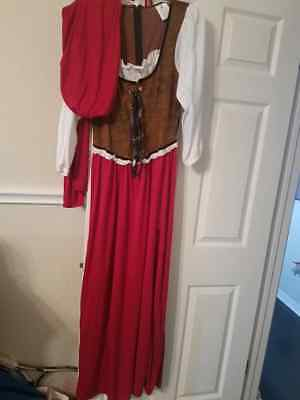 Red Riding Hood halloween costume, size L