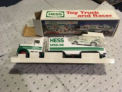NIB 1991 Hess Toy Truck and Racer Friction Motor Lights BRAND NEW Collectible