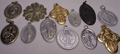 Lot Of 12 Vintage Catholic Religious Medals Pendants CHARM