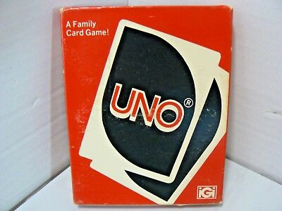 EUC Vintage 1979 UNO Card Game Complete With Instructions IGI VERY CRISP CARDS