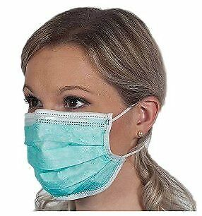 Dealmed Disposable Latex Free Blue Medical Face Mask with Ear Loops 50 Per Box