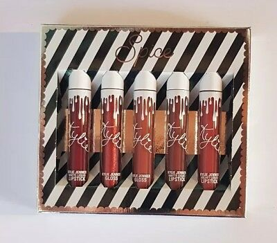kylie cosmetics spice holiday matte liquid lip collection new authentic