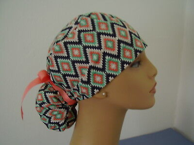 Surgical Scrub Hat Ponytail Style Cap - Southwestern Design