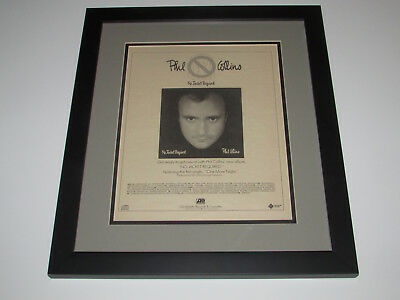 Phil Collins No Jacket Required Original Promo Poster Ad Professionally Framed!