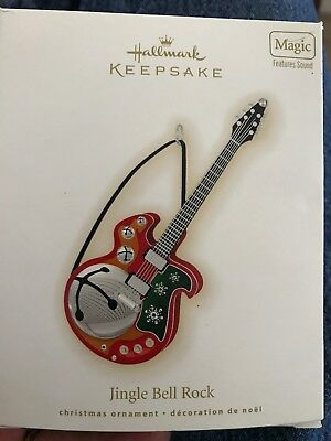 Hallmark Keepsake Christmas  Ornament Jingle Bell Rock Guitar Sound Magic Series