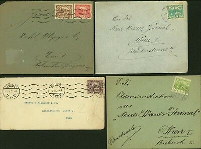 Czechoslovakia  - Used cover and used stamps to Austria (x4) ...(3G-37645) B6505