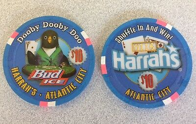 $10 Harrah's AC Casino Chip - Bud Ice Dooby - Limited Edition Chip